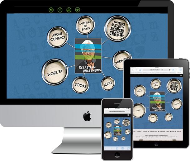 Logo, responsive, custom WordPress site for Sebastian Matthews