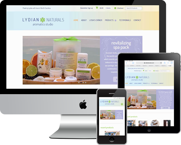 Responsive Wordpress site, Woocommerce and SEO for Lydian Naturals