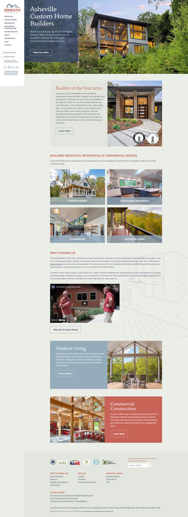 Website for Sineath Construction